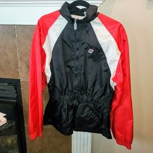 Vintage Fila Full Zip Cinch Waist Nylon Jacket